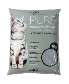 Angel Pure premium Cat litter 10L Activated Charcoal