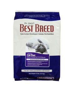 Dr. Gary's Best Breed Holistic Grain Free All Life Stages Chicken, Whitefish, Fruits and Vegetable Cat Diet Dry Food  6.8kg(15lbs)