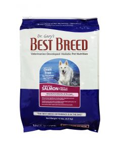Dr. Gary's Best Breed Holistic Grain Free All Life Stages Salmon with Fruits & Vegetables Dog Dry Food 15lbs (6.8Kg)